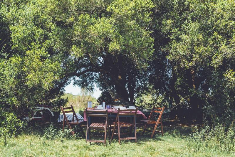 Dinner at Caballos de Luz, Uruguay