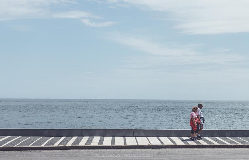 Walking the point - Punta del Este, Uruguay