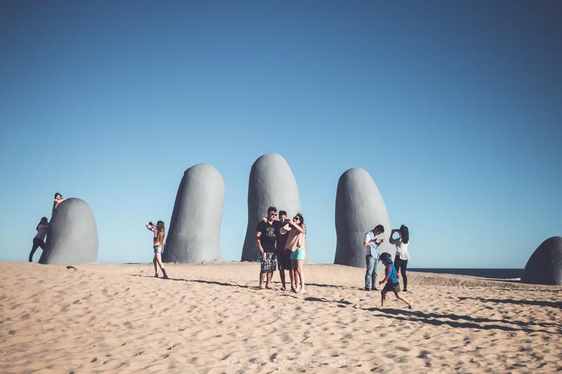 The hand in the sand, Punta del Este, Uruguay