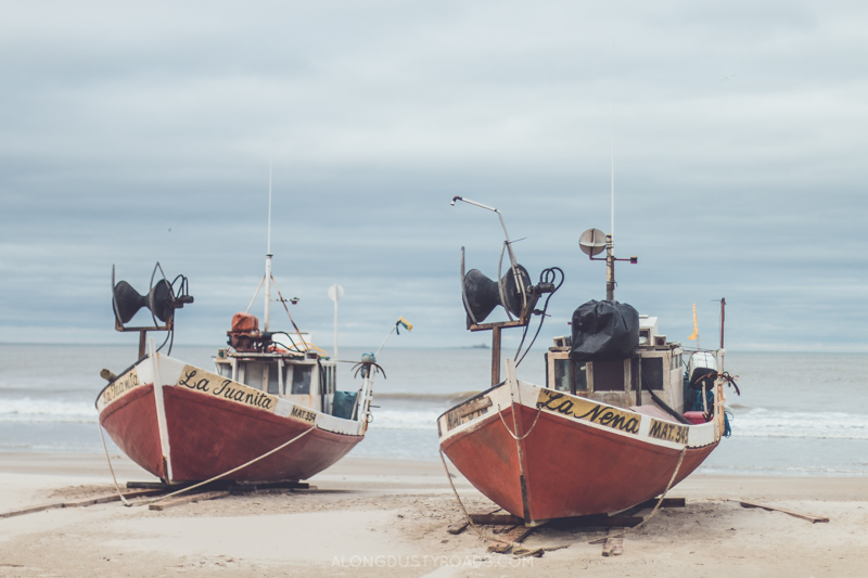 Beautiful boats in Cabo Polonio, Uruguay