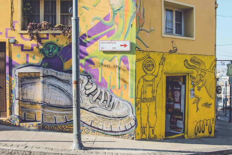 Street art and graffiti, Valparaiso, Chile
