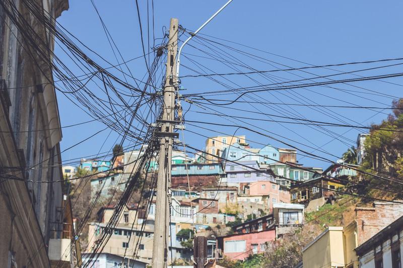Colourful cerros of Valparaiso, Chile