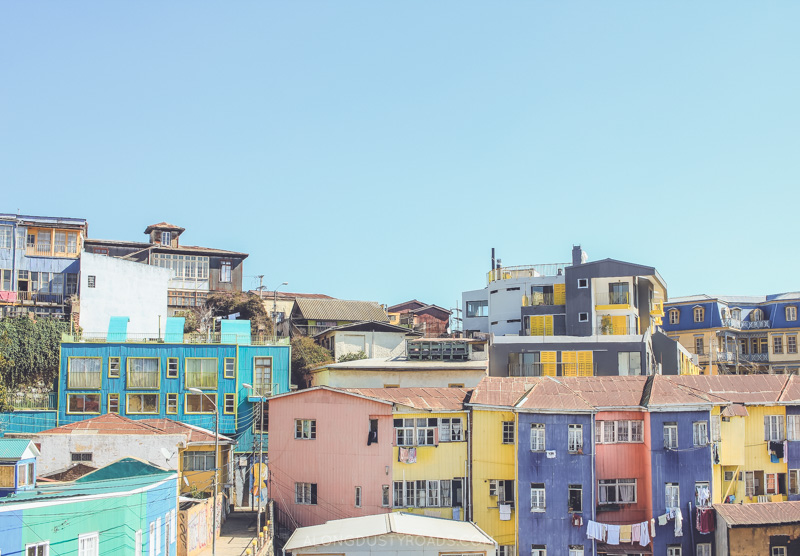The colourful cerros of Valparaiso, Chile