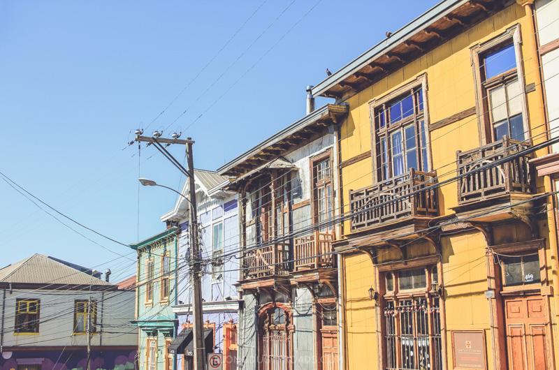 The cerros of Valparaiso, Chile