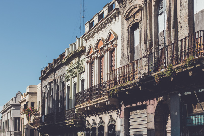 The old town of Montevideo, Uruguay