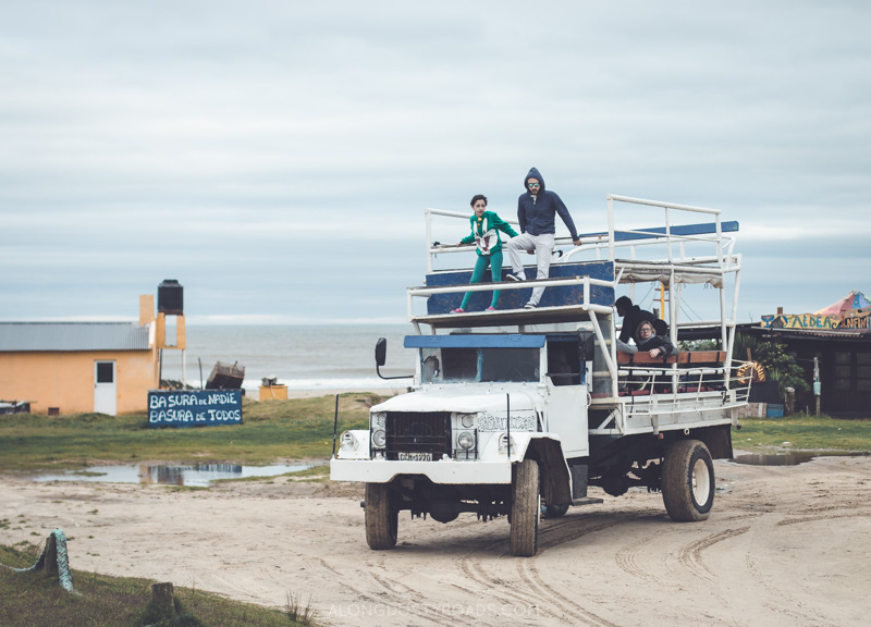 Truck across the sand dunes to Cabo Polonio, Uruguay