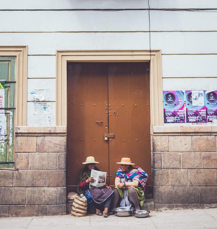 Street scene, Sucre, Bolivia