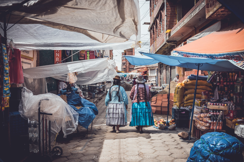 Cholita in Copacabana, Bolivia