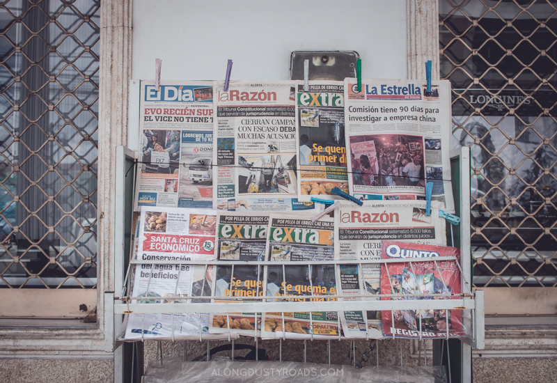 Newspaper Stand - Santa Cruz - Bolivia