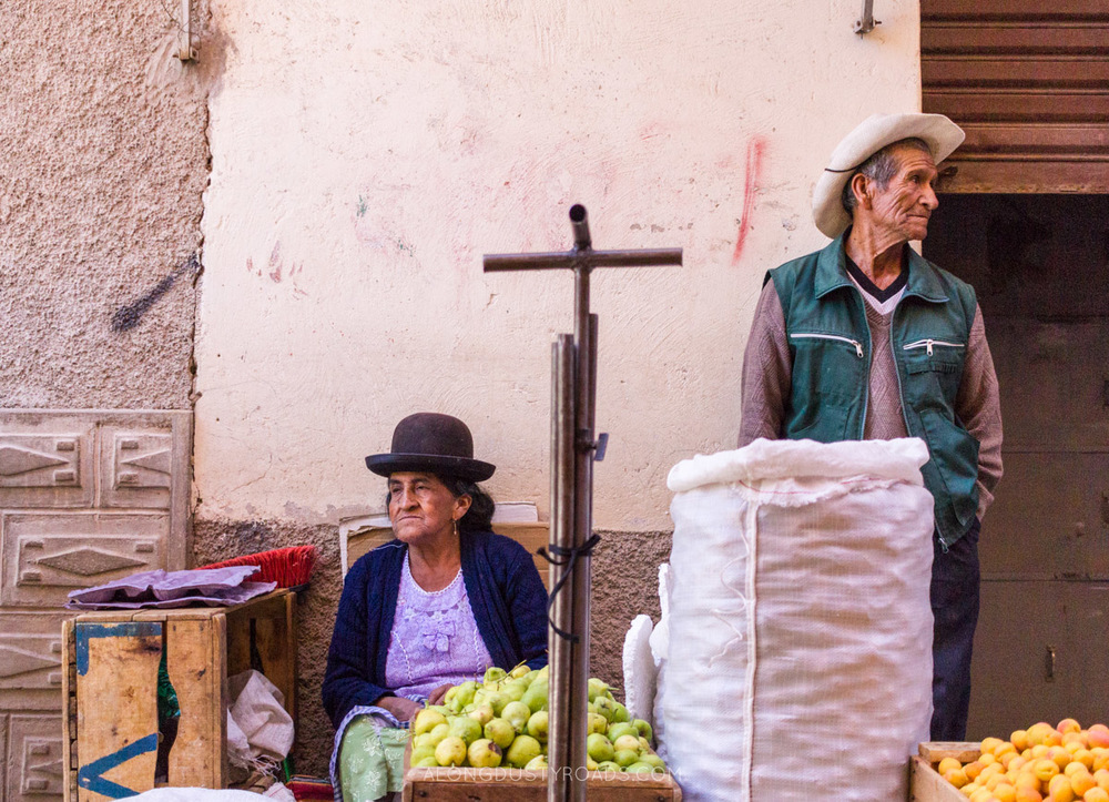 The market in Tupiza, Bolivia