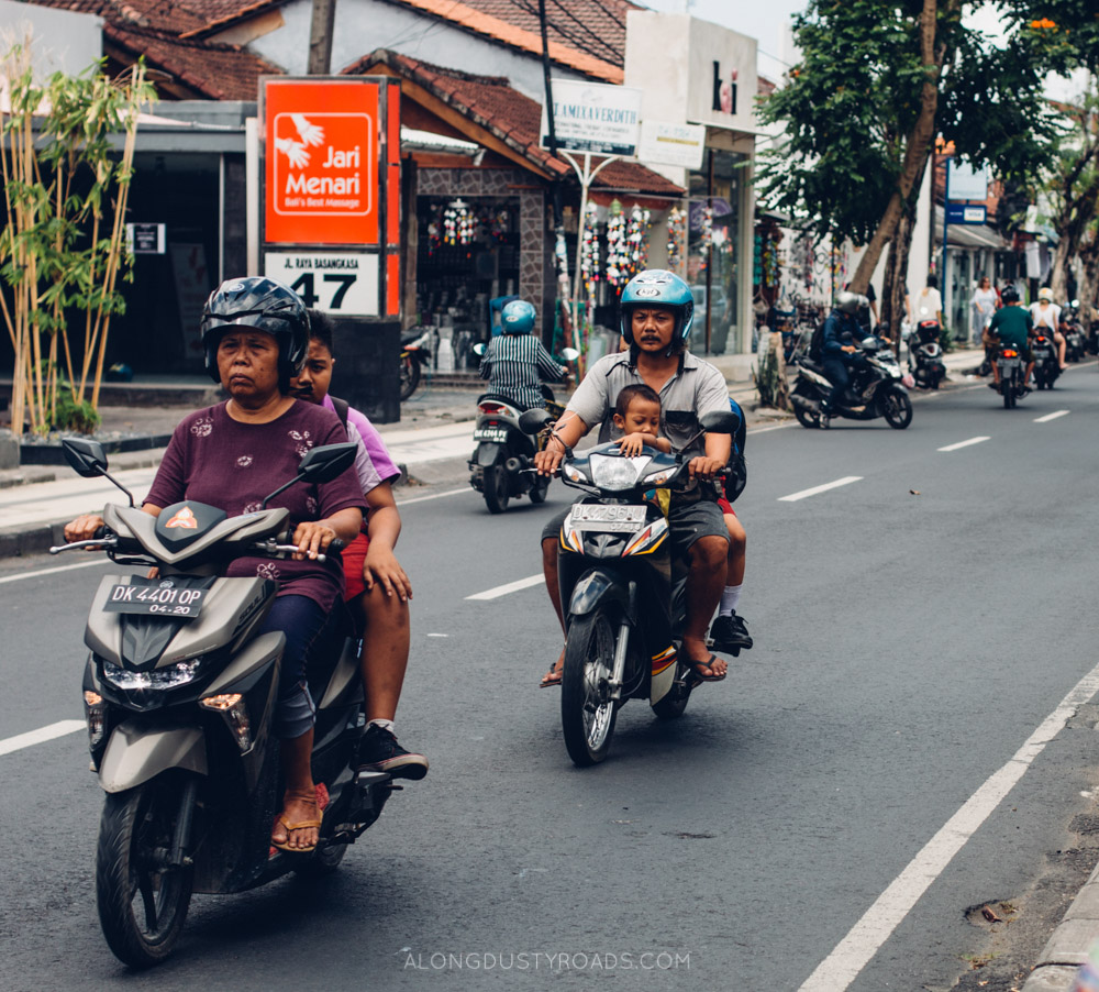 Traffic and scooters, Bali, Indonesia