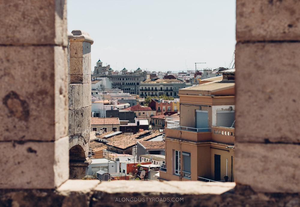 Amazing view from Las Torres de Serranos, Valencia