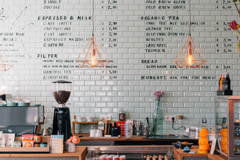 Cool coffee shop, Düsseldorf, Germany