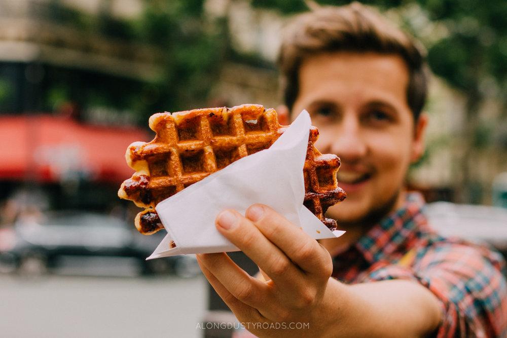 Delicious street food, Paris, France