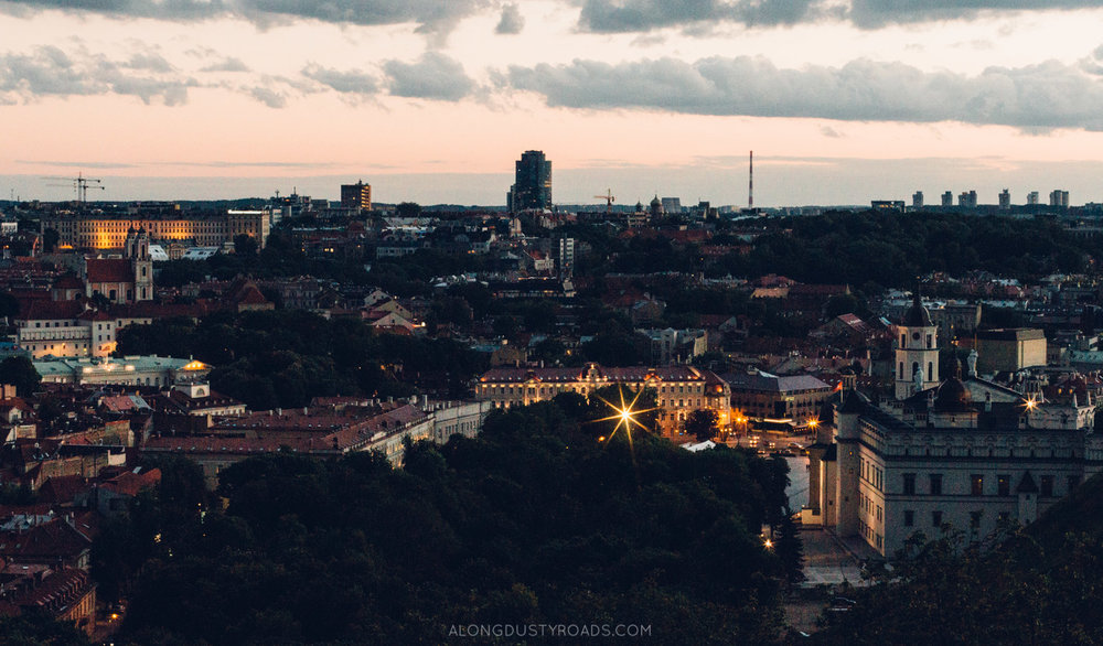Sunset from the Hill of Three Crosses, Vilnius, Lithuania