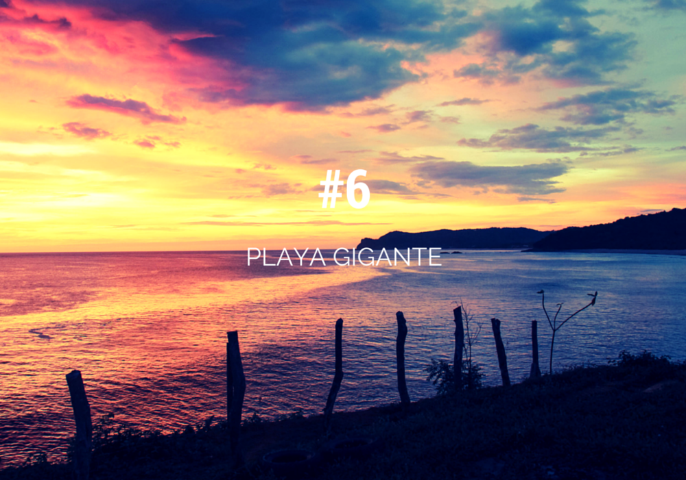playa gigante nicaragua sunset