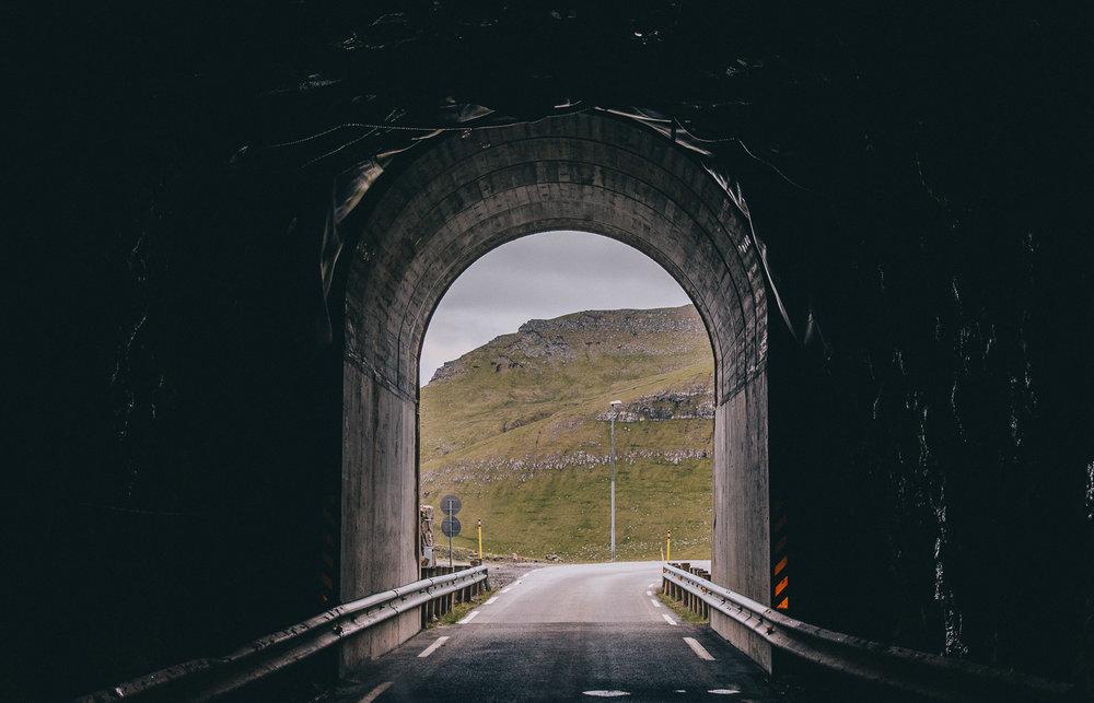 Tunnels in Kalsoy, Faroe Islands