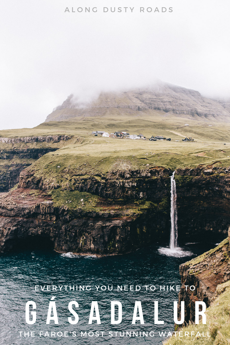 Your ultimate guide to hiking to Gásadalur waterfall in the Faroe Islands.