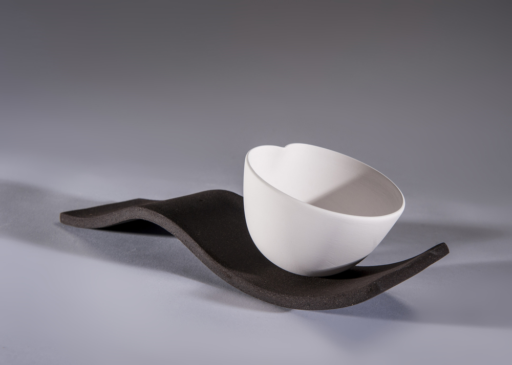 2. Sasha McVey- Little Dip- porcelain and black clay- 31cm x 11cm x 11cm- 2013.jpg