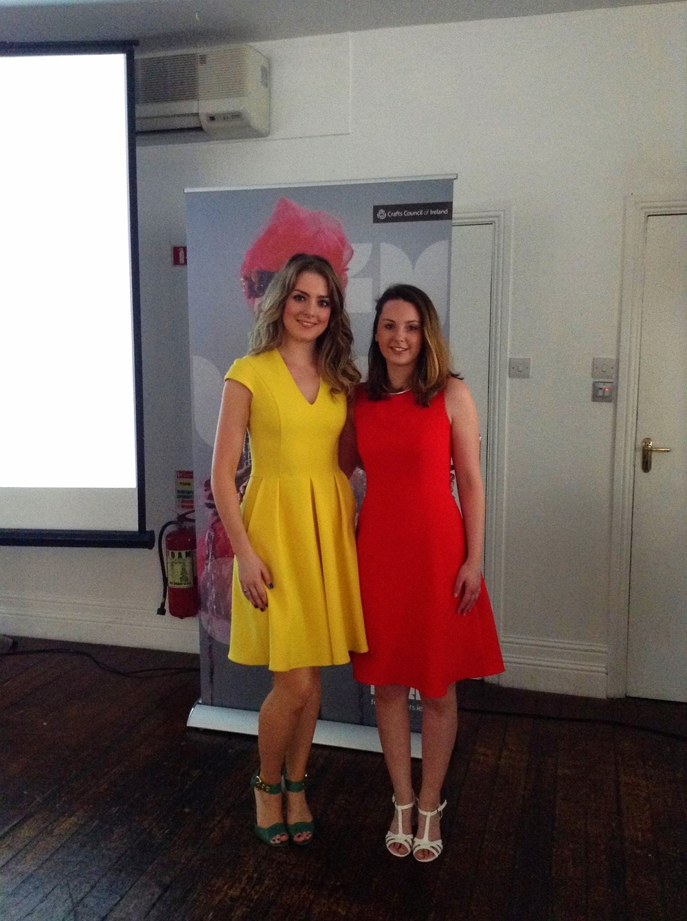 Future Makers Awards and Supports Evening in Dublin with Sasha McVey (Right) Rhiannon Ewing (Left) Materials Support Winners.