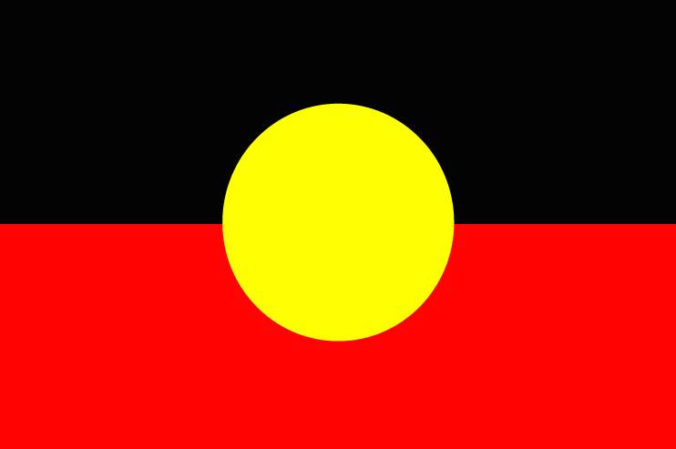The Australian Aboriginal Flag designed by Harold Thomas, 1971