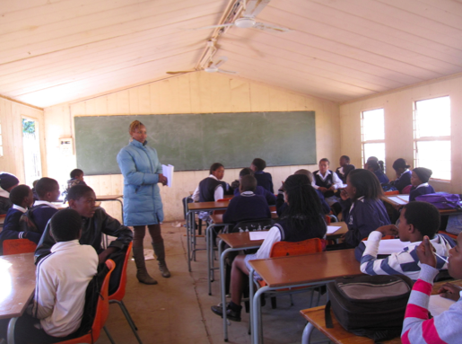 Professor Tin-Ti, Grade 8 Life Orientation, Natural Science and Technology Teacher at Michael Modisakeng Secondary School in Brits, North West Province, South Africa. Photo by: Jorge Santiago