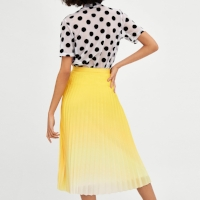 ZARA-PLEATED-OMBRE-SKIRT