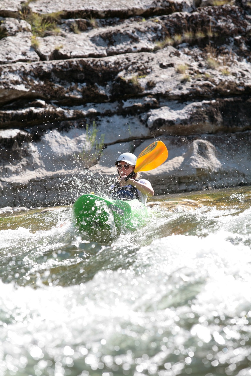 Learn to kayak - Ardeche River