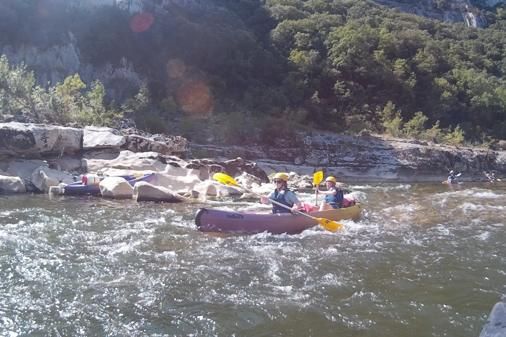 Rapid running on the 2 day descent of the ardeche river