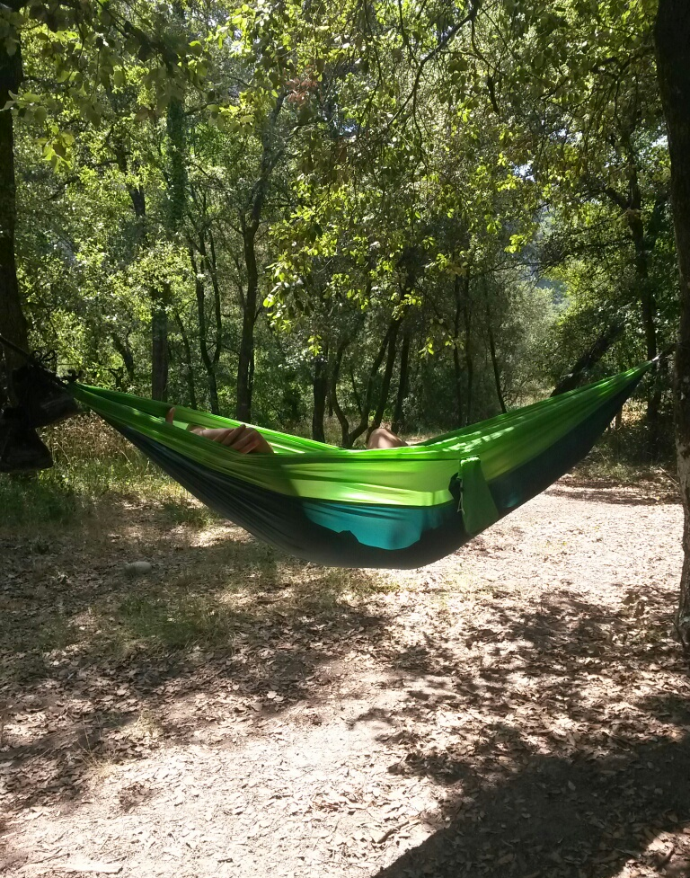 Chilling in a hammock