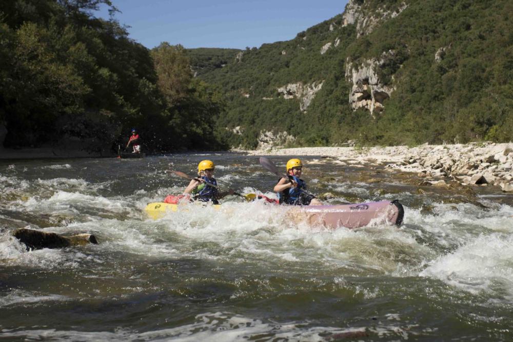 Kayaking on the Ardeche River - Rapide La mas
