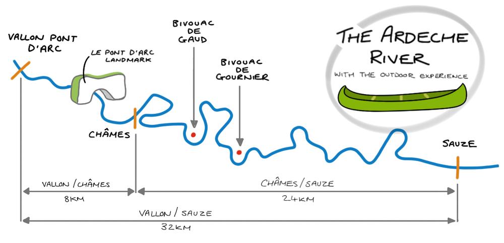Ardeche River Map