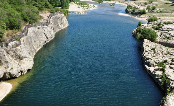 A Quiet section of the Ardeche river
