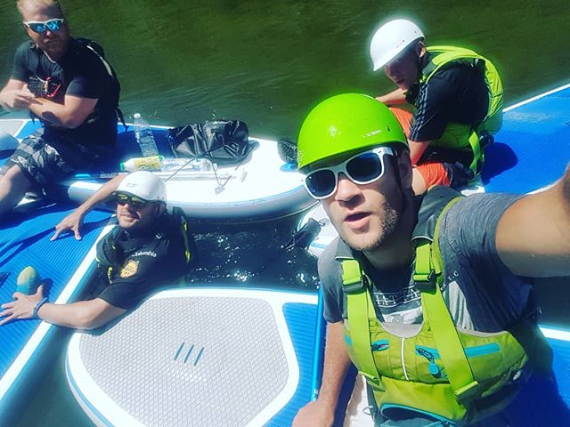 SUPing down the deche! #Ardeche #Canoeingholiday #T_O_E #DreamTeam #sup