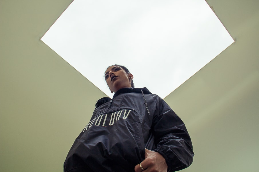 Krooluhv Worldwide Black Windbreaker