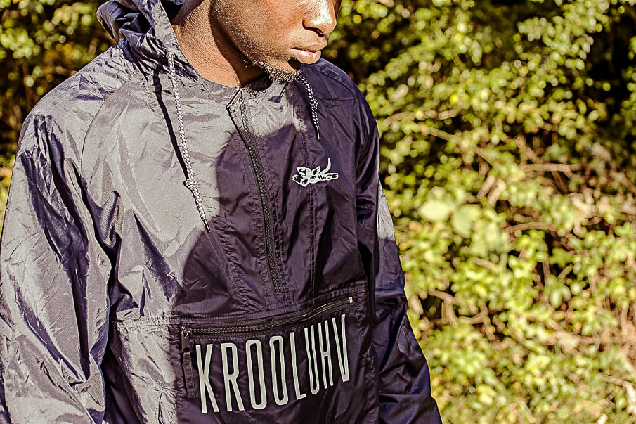 Krooluhv Black Windbreaker