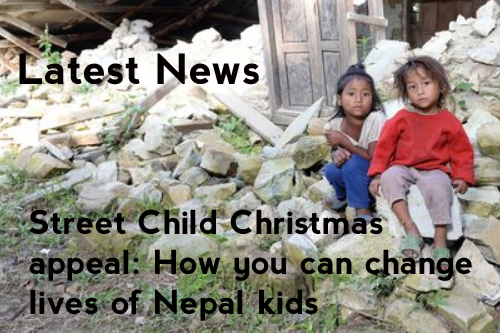 + The Sunday Mirror launch our 2015 Christmas Appeal, this year raising funds to support our work with vulnerable children in Nepal