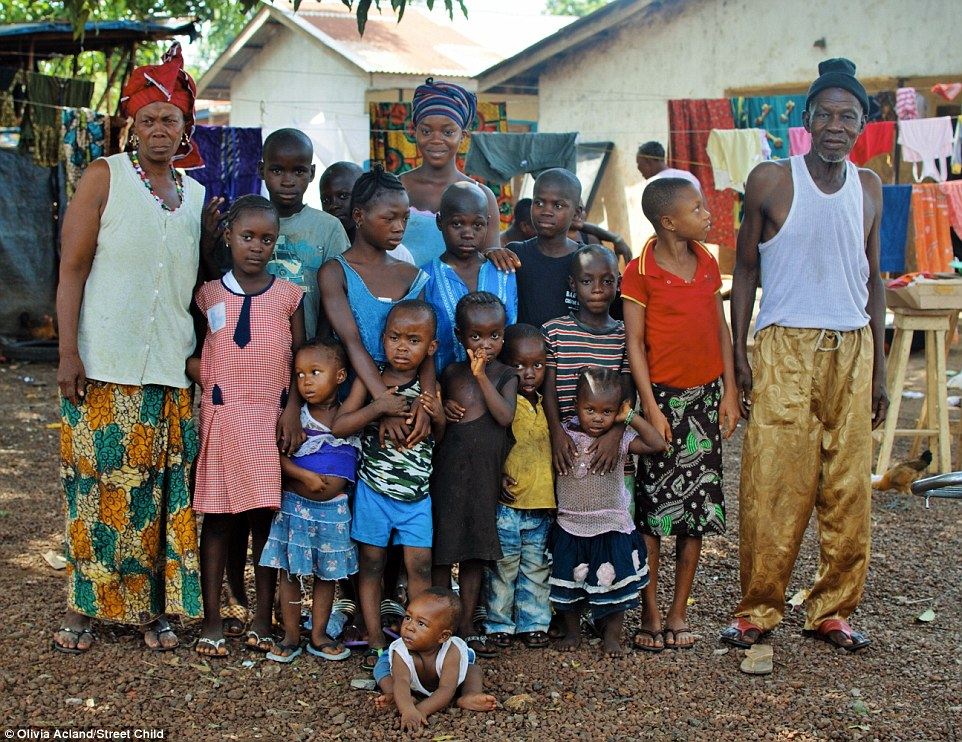 The third and final article in the exclusive series by the Mail Online shared the story of grandmother Ramatu who is now looking after her eighteen grandchildren after they lost their parents to Ebola