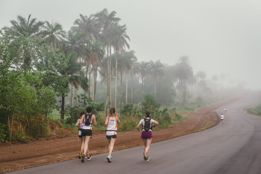 Stunning scenery on the Sierra Leone Marathon route