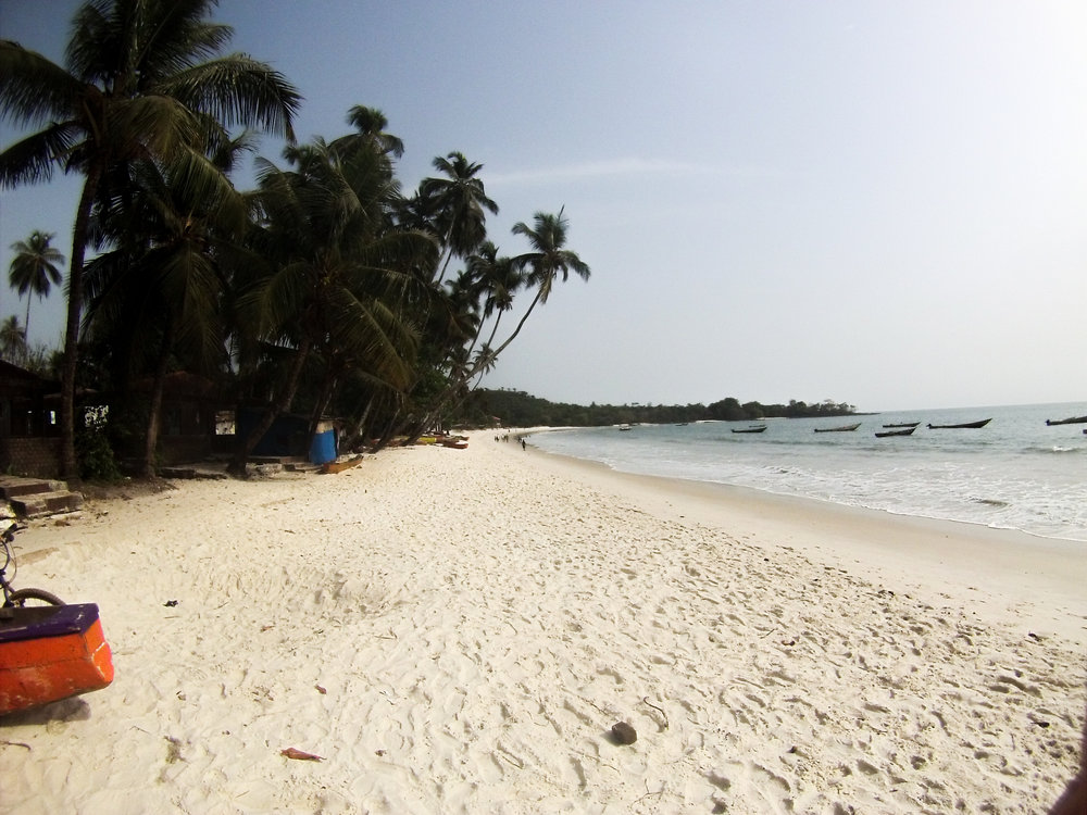 Relax on one of West Africa's most beautiful palm-fringed beaches - West Africa Cycle Challenge