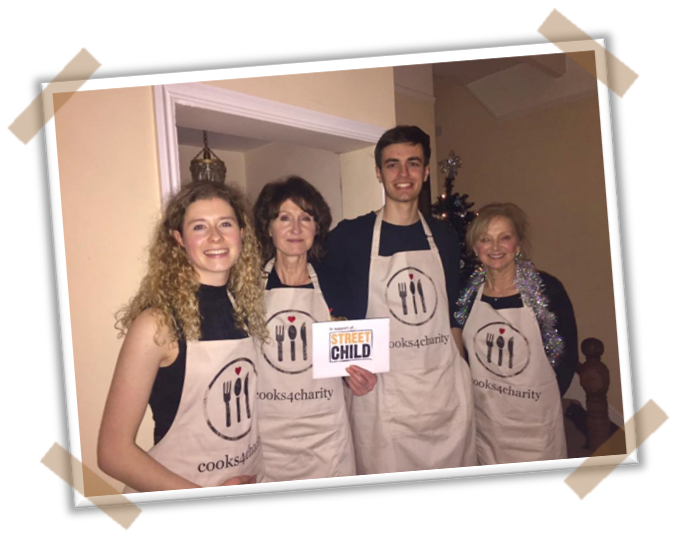 Rhian's fundraising Street Child Supper Club - Rhian and her mum turned their home into a restaurant for the evening to cook up a storm and support Rhian's fundraising campaign for her international volunteering placement.