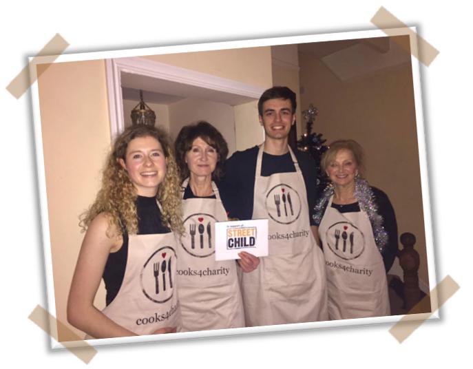 Rhian's fundraising Street Child Supper Club