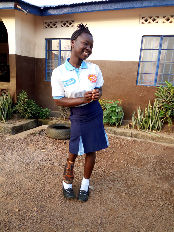 Kate, 17 years old,  lives with a care giver at the same residential rehabilitation centre as Sorie.