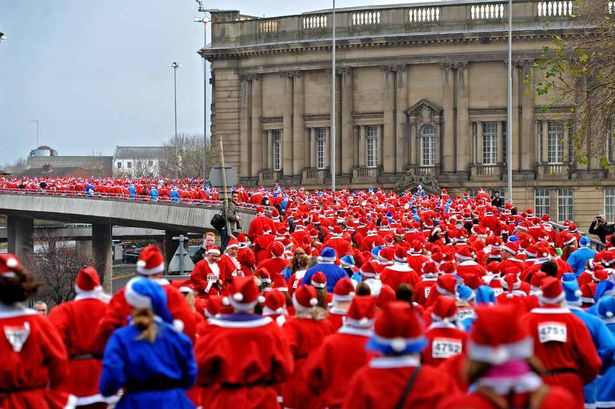 The Liverpool team cut a Dash in their Santa suits! - Yep, that's right: they took on the legendary Santa Dash, raising over £1,500 - enough to make us blush like Rudolph's nose!
