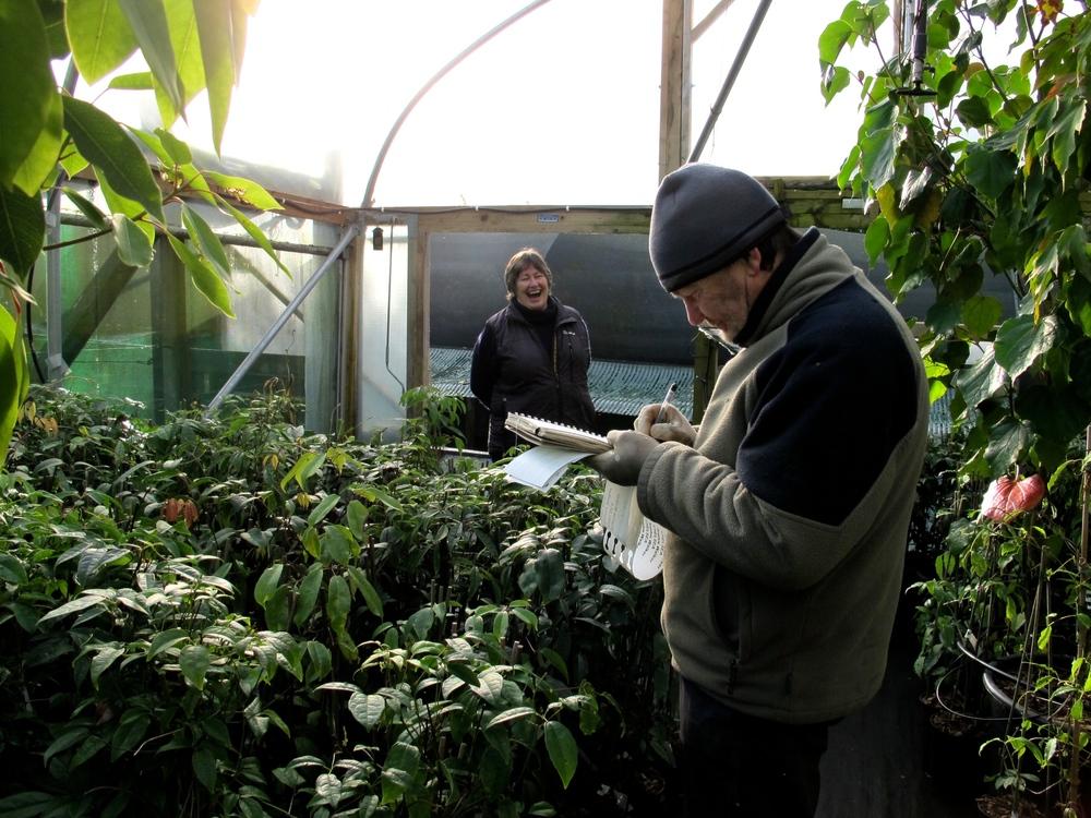 Sue and Bleddyn Wynn Jones on the nursery at Crug Farm Plants