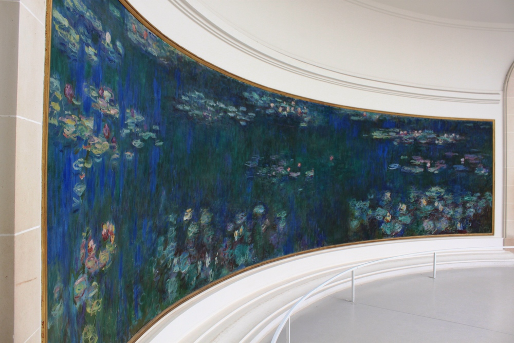 Monet's panoramic waterscapes at Musee l'Orangerie, Paris