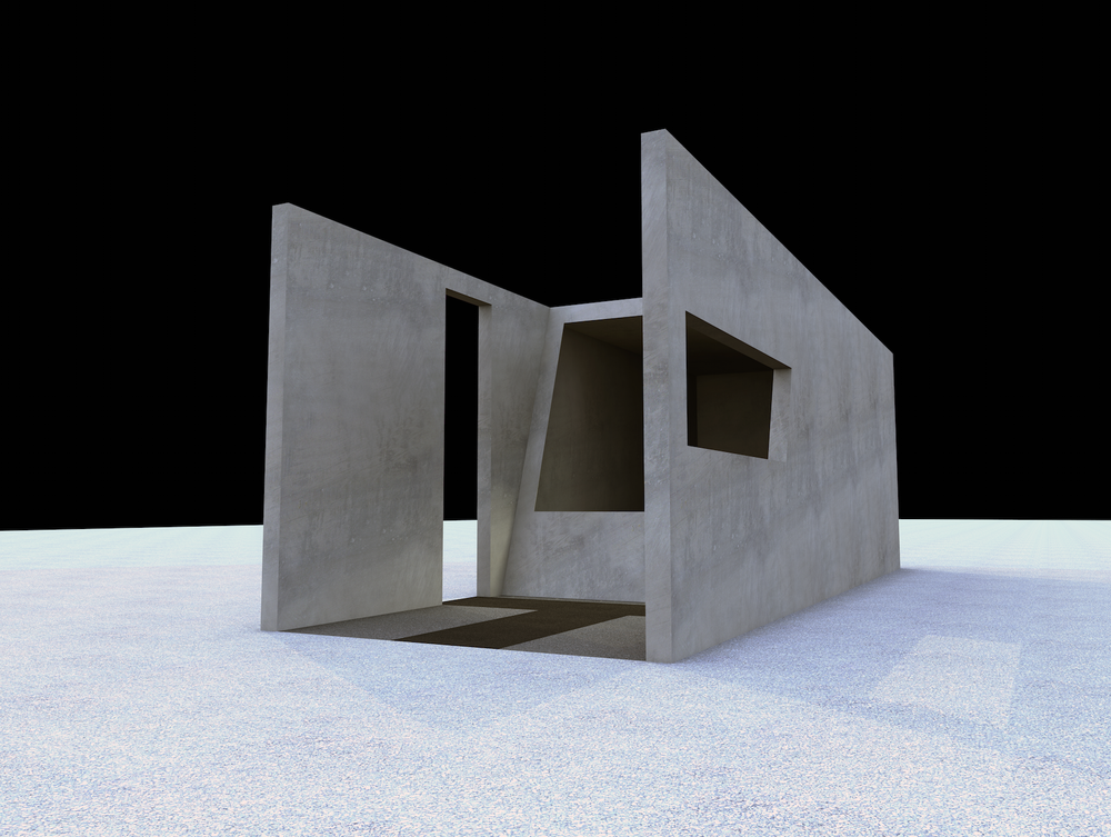 Modeling the exterior of Cave Pavilion