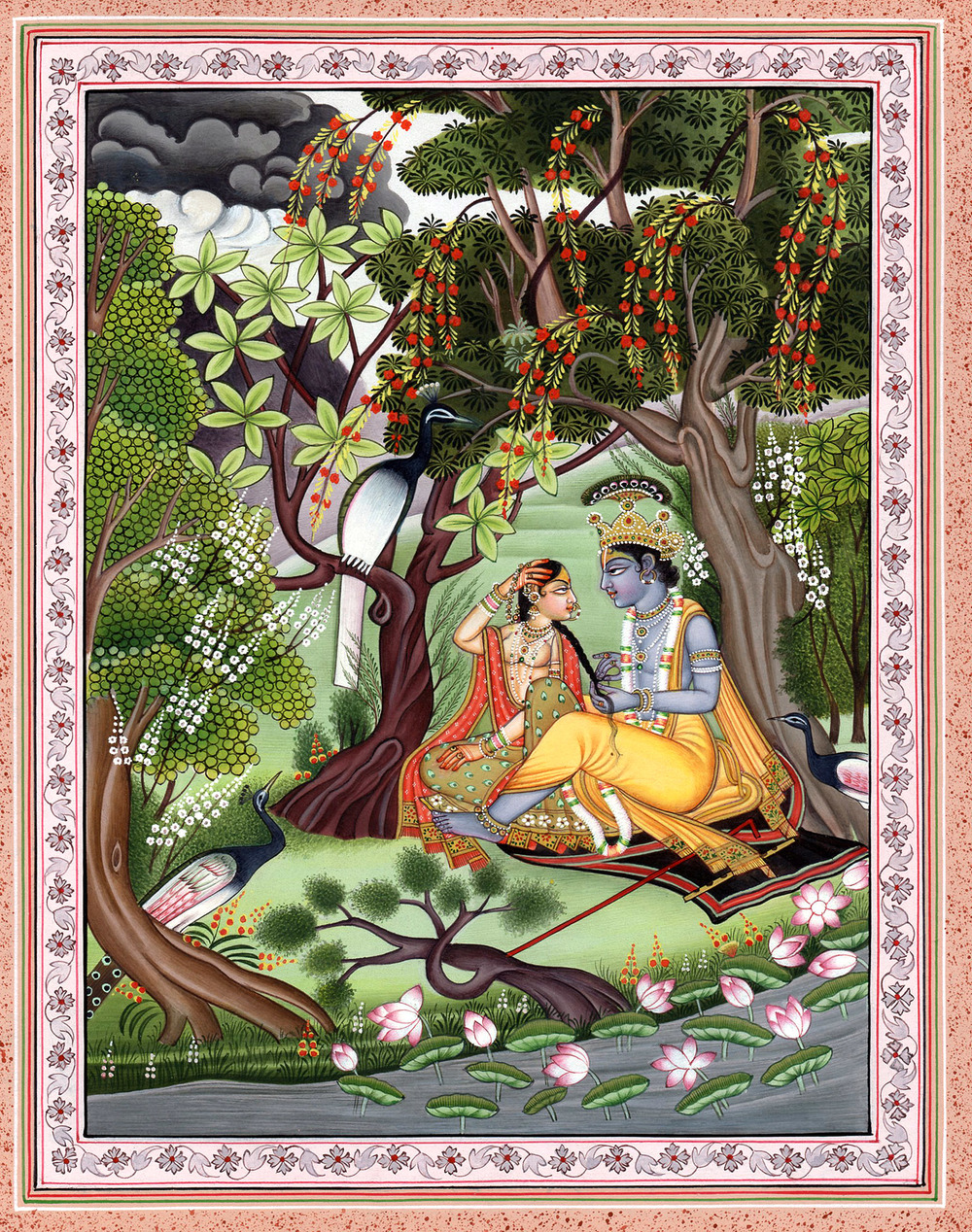 Krishna in the garden
