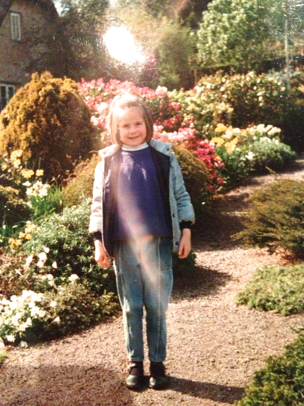 Sophie Walker as a child, in Thomas Hardy's Garden, Dorset