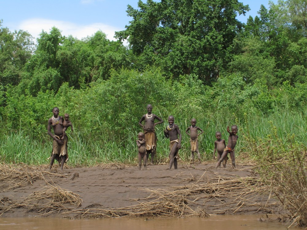 On the banks of the Omo River
